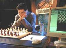В предыдущем матче у Крамника еще не было монитора.