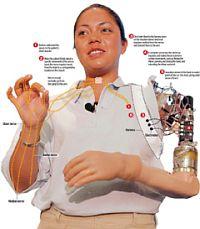 Клаудия Митчелл с рукой-роботом