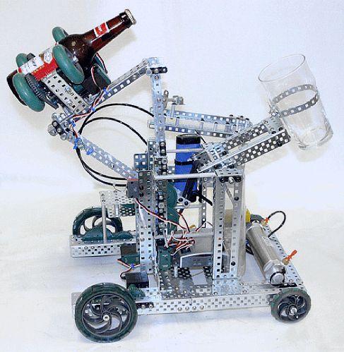 BeerBot - робот для открывания бутылок и наливания пива