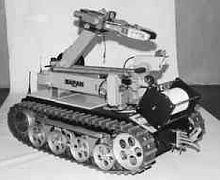 механизированный радиоуправляемый робот-манипулятор Варан