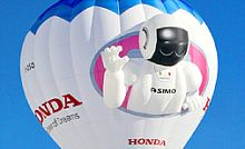 ASIMO на воздушном шаре
