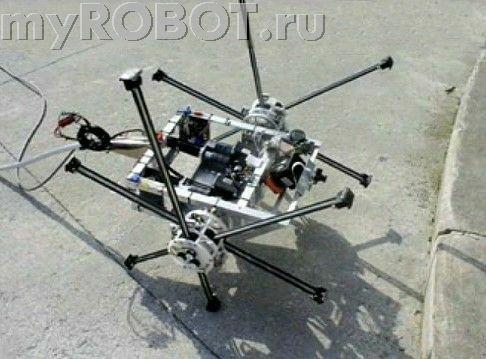 Робот IMPASS (Intelligent Mobility Platform with Actuated Spoke System) для передвижения по неровным поверхностям.