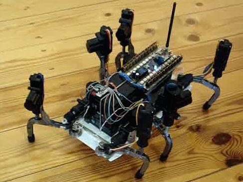 шестиногий ходящий робот Кот