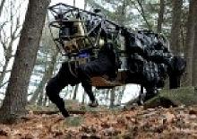 Военный робот-носильщик LS3 для пехоты