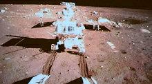 Путешествие по поверхности луны шестиколесного китайского лунохода Нефритовый заяц