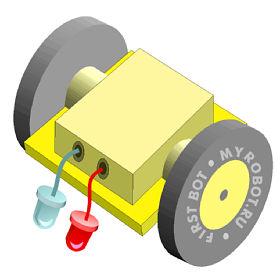 Робот с фотодатчиком