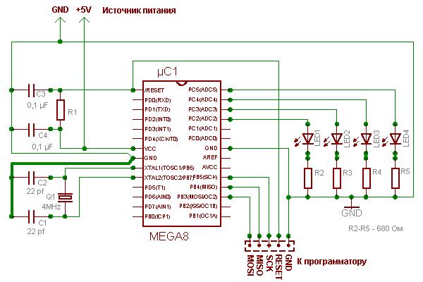 микроконтроллером ATmega8.
