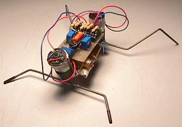 Фотография шагающего робота.